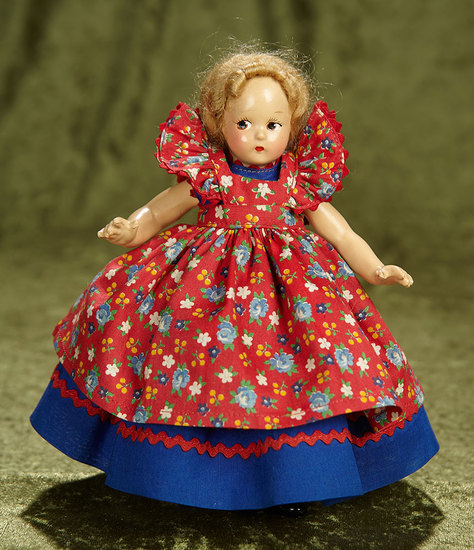 "7"" American composition Tiny Betty by Alexander in original costume. $200/300"