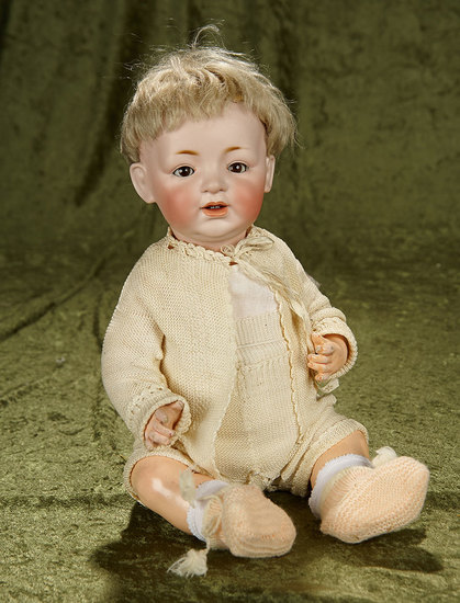 """17"""" German bisque character, 211, by Kestner with original wig and costume. $400/500"""