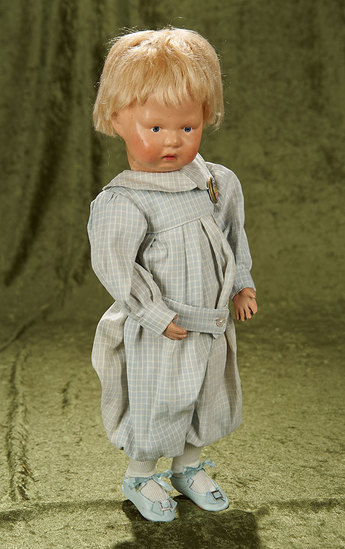 """17"""" American wooden Schoenhut toddler with walking style body. $400/600"""