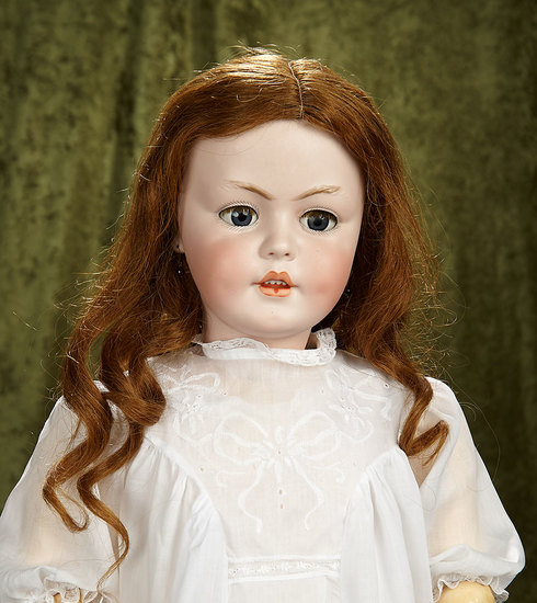 "33"" German bisque child, 1279, by Simon and Halbig, rare model in rare size. $1700/1900"