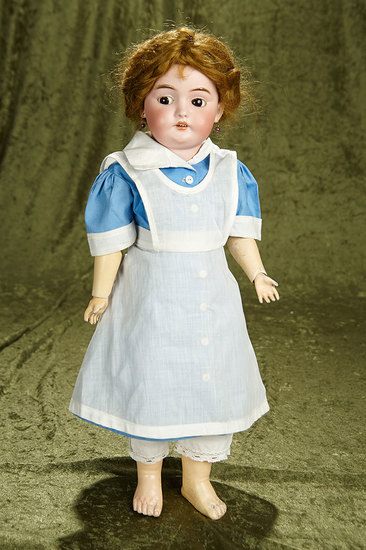 "19"" German bisque child with flirty eyes, model 1039, by Simon and Halbig. $400/500"