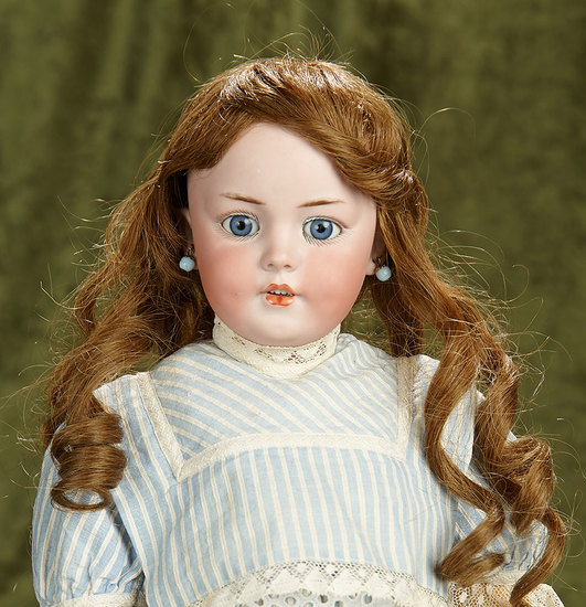 "19"" German bisque child, model 1279, by Simon and Halbig with wonderful dimples. $800/1200"