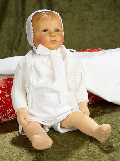 "19"" German character doll ""Traumerchen"" by Kathe Kruse in original costume, box. $600/900"