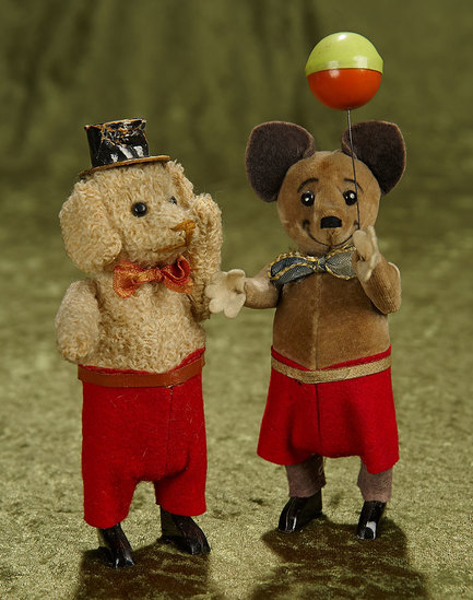 """5 1/2"""" Two German mechanical toy animals by Schuco. $500/700"""