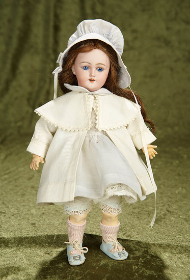 """11"""" Petite German bisque child, 1249, by Simon and Halbig. $500/700"""