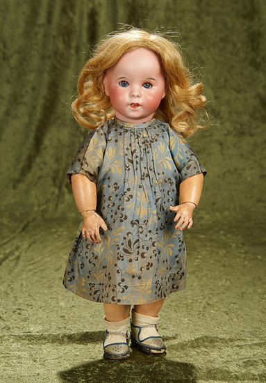 """15"""" French bisque toddler with impish expression, model 247, by SFBJ. $800/1000"""