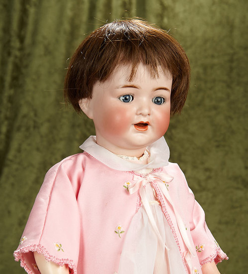 """20"""" German bisque toddler, 126, by Kammer and Reinhardt with flirty eyes. $400/600"""
