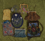 Lot, eight vintage beaded and woven purses. $400/500