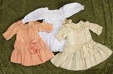 Three antique dresses for 20