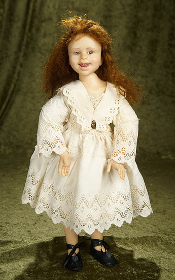 "18"" One-of-a-Kind doll by Jamie Williamson  with delightful expression. $600/800"