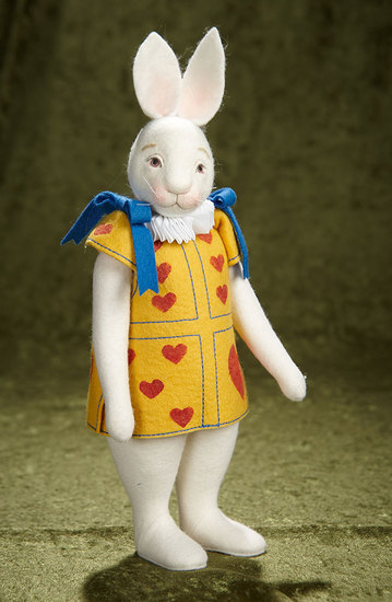 "13"" Felt ""White Rabbit"" from Alice in Wonderland by Maggie Iacono. $500/700"