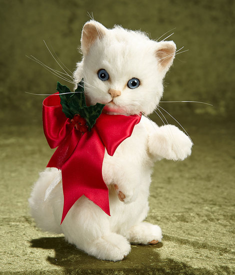 "10"" ""Holly""  from Christmas Kittens Series by R. John Wright. #192/250. $600/800"