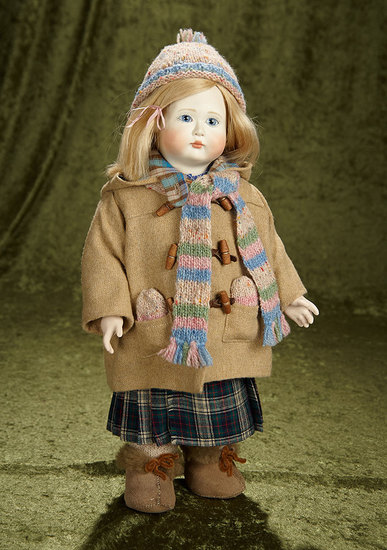 "17"" ""Florence"" with wooden ball-jointed body by Lynne & Michael Roche. $500/700"