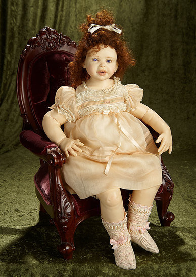 """23"""" One-of-a-Kind Portrait doll by Jamie Williamson. $1200/1600"""