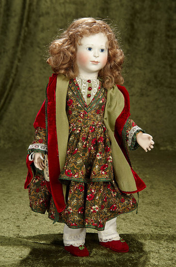"""18"""" """"Christmas Shopping in Times Past"""",Limited Edition doll by Lynne and Michael Roche. $800/1100"""
