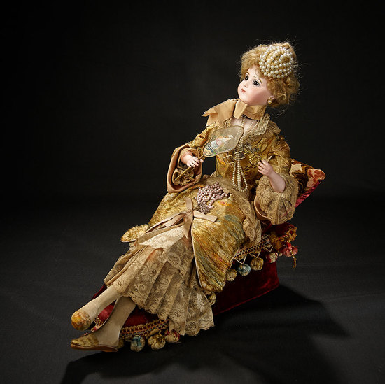 "Splendid French Musical Automaton ""Elegant Lady Reclining on Recamier"" Lambert 22,000/34,000"