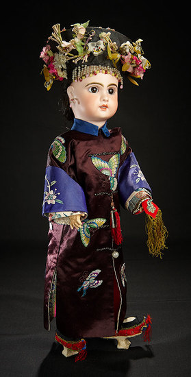 French Bisque Bebe by Emile Jumeau in All-Original Outstanding Japanese Costume 5000/7000
