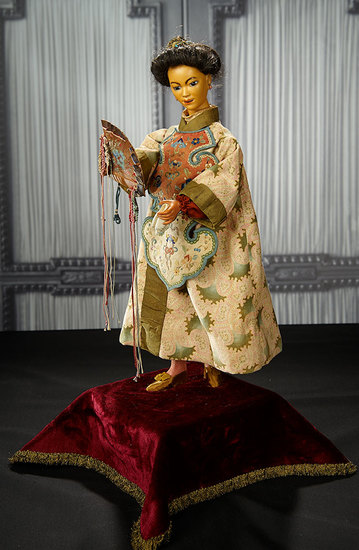 "French Automaton ""Chinese Lady with Fan"" by Leopold Lambert in Superb Costume 15,000/19,000"