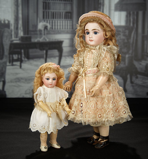 Beautiful French Bisque Bebe A.T. by Andre Thuillier in Lovely Antique Costume 11,000/16,000
