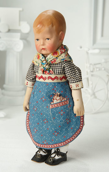 German Cloth Character, Series I, by Kathe Kruse in Original Costume 2000/2500