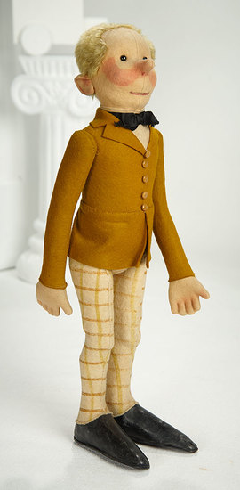Early German Felt Character Doll as Professor by Steiff 1200/1600