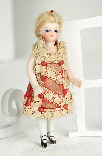 French All-Bisque Mignonette, Size 0, in Original Costume 500/700
