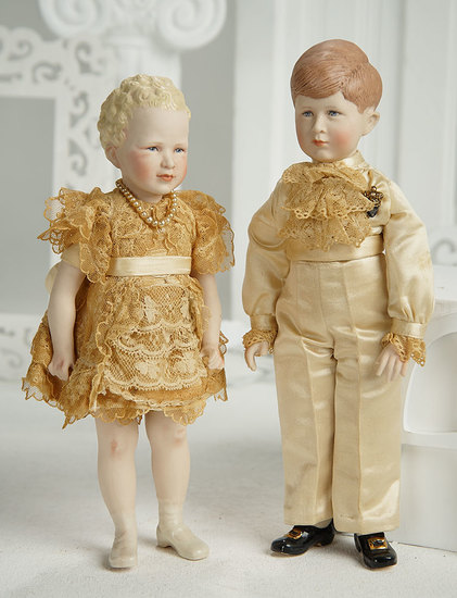 American Porcelain Portrait Doll of Princess Anne by Martha Thompson 400/500