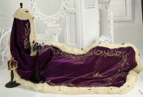 Couturier Purple Velvet and Ermine Robe with Two Crowns  400/700