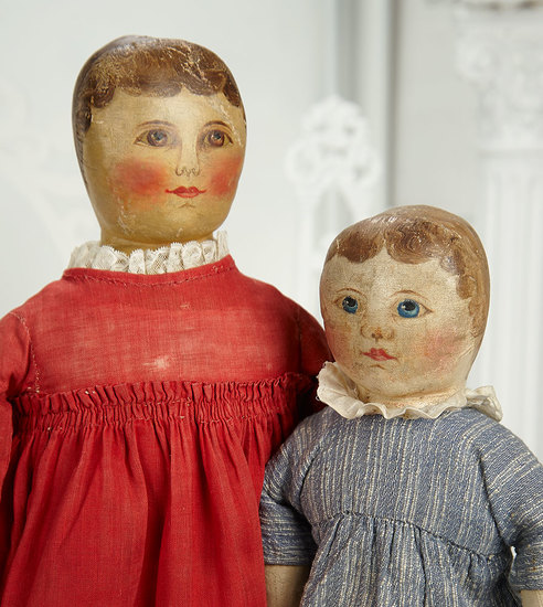 American Oil-Painted Brown-Eyed Columbian Doll by Emma Adams 1400/1800