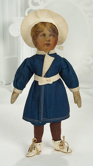 """American Lithographed Cloth Doll """"Little Jack Horner"""" from Babyland Rag Series 200/400"""