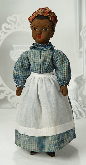 American Brown-Complexioned Stockinette Doll Known as Beecher-type 1100/1300