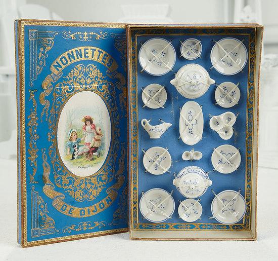 French Miniature Porcelain Dinnerware in Original Presentation Box 200/300