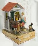 Rare German Paper Mache Toy of Rural Scene 400/500