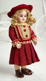 Petite German Bisque Child, 99, by Handwerck in Wonderful Antique Costume 350/500