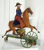 French Mechanical Toy Depicting General Astride a Horse by Theroude 600/900