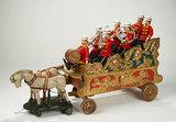 American Wooden Bandwagon, Musicians from Humpty Dumpty Circus by Schoenhut 17,000/24,000
