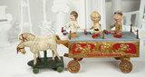 American Wooden Show Wagon, 3 Characters, Schoenhut's Humpty Dumpty Circus 10,000/15,000