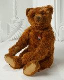 Early German Cinnamon Mohair Teddy Bear with Blank Button in Ear 3500/4500