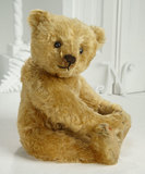 Rare German Apricot Mohair Teddy with Center Seam by Steiff 4500/6500