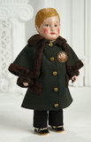 Rare American Cloth Character Boy by Martha Chase with Side-Part Brown Hair 1200/1600