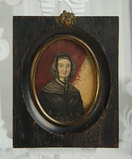 Miniature American Painting of Esther Francis at Age 53 in Original Frame 400/600