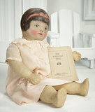 Rare American Cloth Doll with Original Catalog by Nina Albritton 2200/2800
