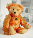 Rare German Musical Teddy Bear in Orange-Tipped Mohair by Jopi 900/1300