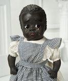 Very Rare American Paper Mache Black Character Doll