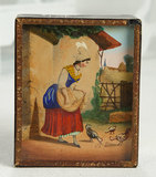 Early French Mechanical Sand Toy Attributed to Tharins, Original Paper Label 500/800