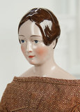 Very Fine German Porcelain Lady with Brown Sculpted Chignon 3000/4000