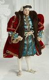 American Porcelain Portrait Doll of King Henry VIII by Martha Thompson 1100/1500