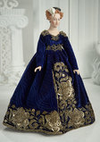 American Porcelain Portrait Doll of Catherine Parr by Martha Thompson,Superb Costume 1100/1300