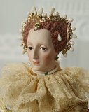 Outstanding American Porcelain Portrait of Queen Elizabeth I by Martha Thompson 1200/1600