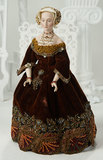 Very Fine American Porcelain Portrait of Anne of Cleves by Martha Thompson 1200/1600